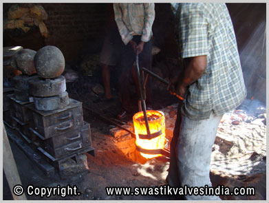 Ball Valves Gun Metal Casting Unit - Swastik Valves Ludhiana Punjab India